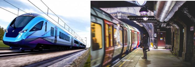PURLINE Rail on train and underground